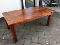 Set of two solid wood coffee tables