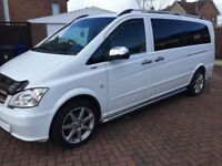 2013 13 reg Mercedes Vito CDti 2.2 xlwb 9 seater minibuses 6 speed ex bus £7895