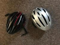 2x Bike helmets bargain, very good condition. Size m adjustable.