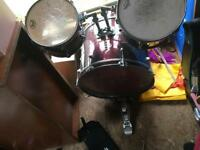 Millennium bass drum 2 toms and pearl kick for sale