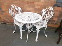 Cast Aluminium Garden Table and Chairs