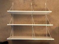 3 x EKBY Ikea Shelves & Metal Wire Frame Wall
