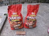 2 bags of Fule Express Barbecue charcoal briquettes 7kg in total