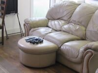Free leather sofa and arm chairs