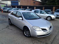 NISSAN PRIMERA IN EXCELLENT CONDITION . 1 YEAR MOT . SPORTS ALLOYS. SUPERB DRIVE .BARGAIN