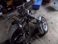mini motorbike low rider honda 50cc engine looks like a mini harley davidson lots of chrome