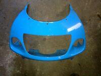 gsxr srad 600 750 front\nosecone fairing ( rizla blue ).