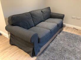Ikea EKTORP three-seat SOFA COVER Nordvalla dark grey - collection only