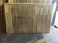 Heavy Duty Tanalised Straight Top Wooden Fence Panels