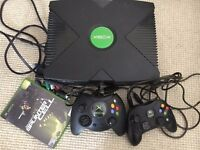 Xbox Console, all Wires, Two Controllers, Splinter Cell