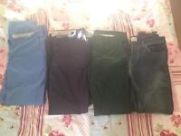 Men's slim chinos and jeans