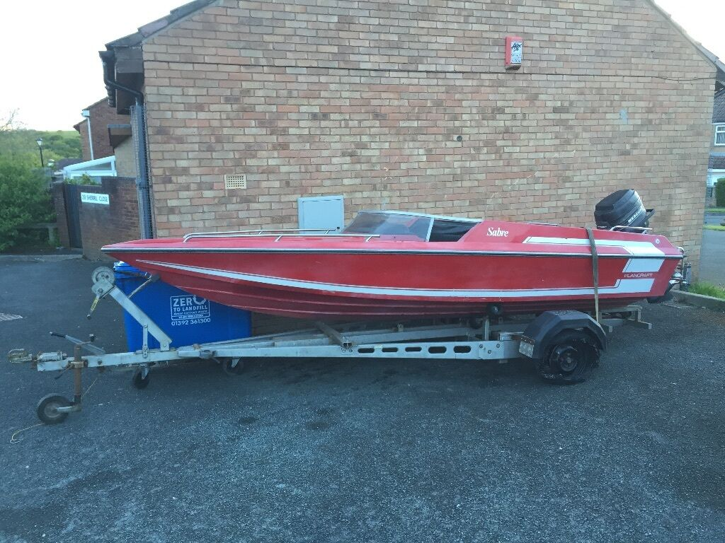 Sabre plancraft speedboat with 75 mariner and solid large for Plan craft
