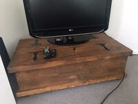 Real Thick Dark Oak Tv Stand or Coffee Table with Storage