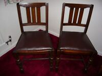Two Antique, Dining-Room chairs