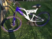"Boys full suspension mountain bike bicycle 24"" wheels Dunlop Sports Raider"