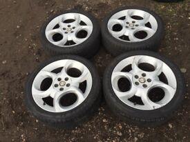 "Alfa Romeo 147 156 17"" alloy wheels and tyres"