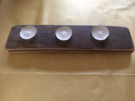 Brand New Wooden Handmade Candle Tea Light Holder