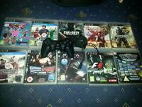 10x Playstation 3 games and official dualshock controller