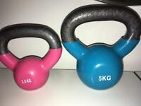 Set of 2 kettlebells