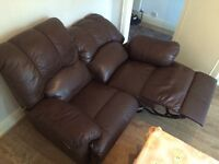 Sofa leather brown