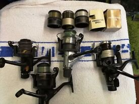 5 shimano fishing reels 45 spare spools 1 is a aero fighting drag