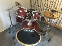 MAPEX 9 piece Drum Kit, excellent condition, ONLY £299