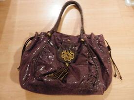 Mischa Barton purple hand/shoulder bag