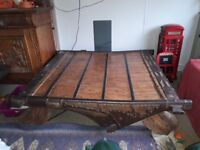 Antique Indian Ox Cart Coffee Table