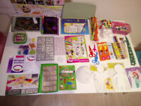 KIDS ARTS CRAFT BUNDLE: Jewellery Making Set, Colouring, Unicorn Scratch, Stamp, Mask, Mr Maker