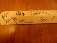 2 MINIATURE CRICKET BATS SIGNED SUSSEX vs GLOUC. at ARUNDEL 2011, ALSO NEWBERY B.52 BOMBER