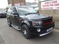 """Range rover sport,2.7 turbo diesel,2012 Autobiography conversion inside and out,22"""" onyx wheels"""