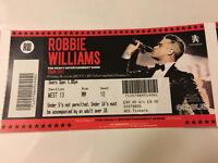 Robbie Williams Concert Tickets Murrayfield Edinburgh
