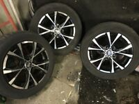Audi seat Skoda vw and will fit ford galaxy 5x112 black and chrome alloys