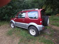 Suzuji Jimny, 10 months MOT, low mileage, mud terrain tires