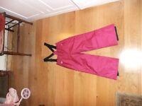 Brand New Girls dark pink salopette age 4-6