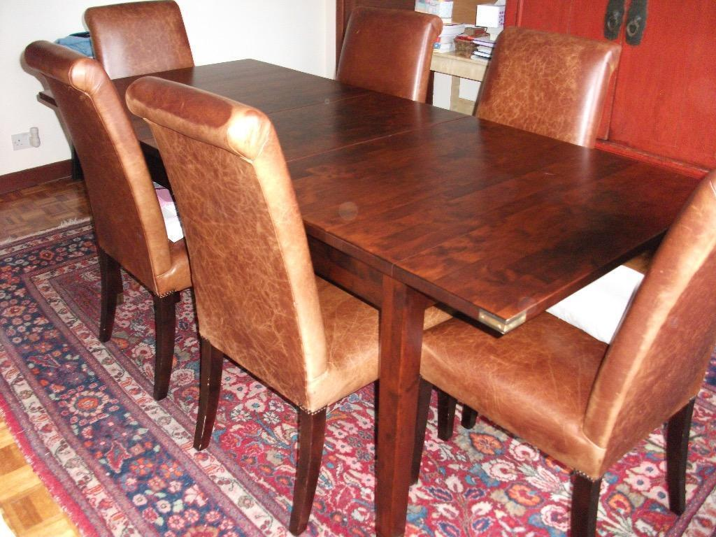 Laura Ashley extendable Dining Table with 6 distressed  : 86 from www.gumtree.com size 1024 x 768 jpeg 122kB