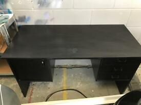 Computer desk, good condition with storage space on both sides