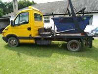 Iveco 3.5 tonne skip lorry and five skips