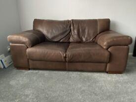 2-piece Leather Sofa Set: 2 seater & 1 Seater