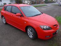 2008 Red Mazda 3 Sport 2.0L Petrol, 5dr hatchback, 12 months MOT, Good condition