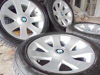 """MINT 18"""" genuine bmw Alloys Wheels X5 7 6 3 X3 e65 Series Vw T5 range rover NEW tyres"""