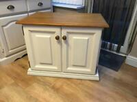 Solid pine farmhouse tv unit cupboard sideboard