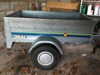 tipping trailer, galvanised, 400kg capacity