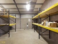 4 bays of Pallet Racking, Excellent Condition, Includes Wooden Shelving