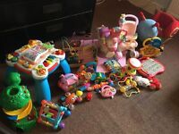 HUGE Bundle of Baby Toys, Rocker, Walker, Fisher Price, Vtech Etc NW6
