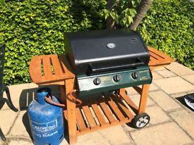 Three gas burner BBQ
