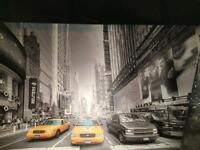 Black and White New York Times Square Canvas