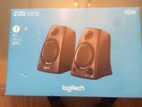 Logitech Z130 PC and laptop Speakers (new ) sealed