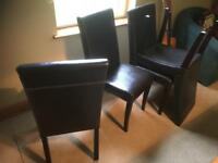 Leatherette dining chairs