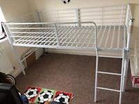 White Mid Sleeper/ Cabin Bed